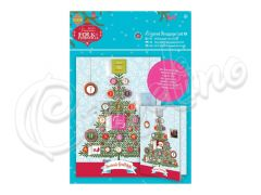 DECOUPAGE CARD KIT FOLK CHRISTMAS