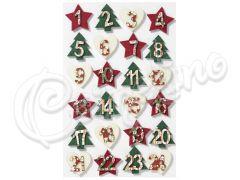 ΑΡΙΘΜΟΙ ΞΥΛΙΝΟΙ CHRISTMAS 1-24 3 εκ