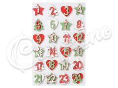 ΑΡΙΘΜΟΙ ΞΥΛΙΝΟΙ CHRISTMAS 1-24 2,7 εκ