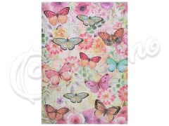 ΧΑΡΤΙ DECOUPAGE BUTTERFLY FLIGHT A4 / 4 ΦΥΛΛΑ