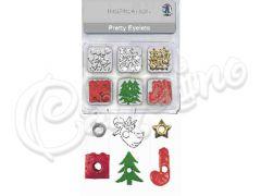 EYELETS  ΜΙΧ CHRISTMAS 2 - 4 εκ, 76 τεμ