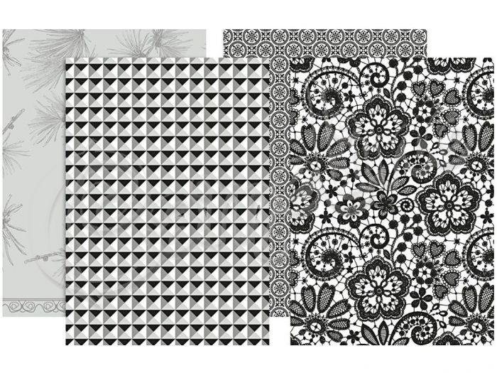 ΧΑΡΤΙΑ DECOUPAGE BLACK & WHITE