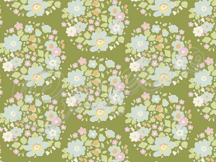 ΎΦΑΣΜΑ TILDA FLOWER NEST GREEN 25x110 ΕΚ.